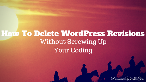 how to delete wordpress revisions