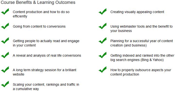 Achieving Maximum Success Through Content Creation Course Benefits