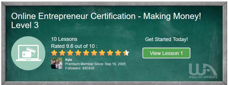 Online Entrepreneur Certification Making Monehy Level 3