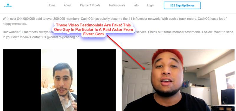 cashog fake video testimonials