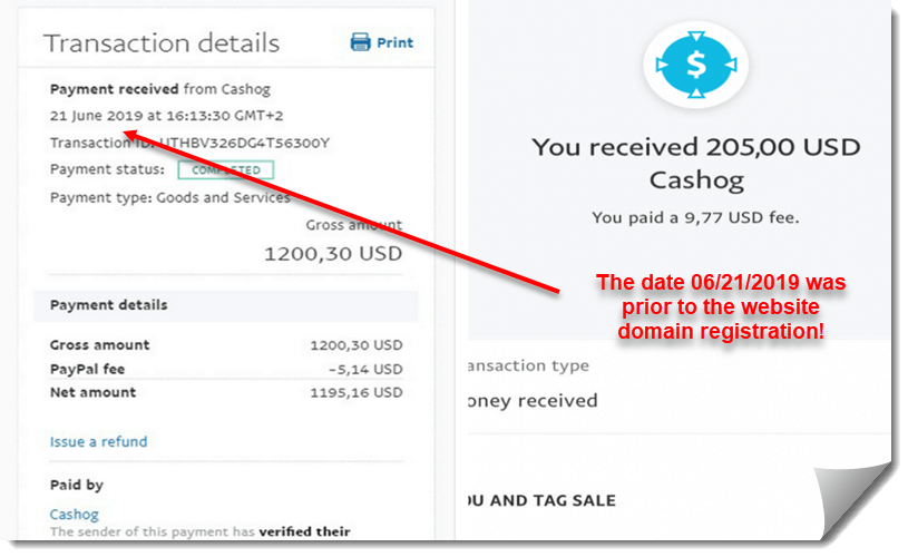 cashog review fake payment proof