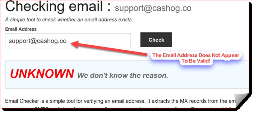 cashog review invalid email