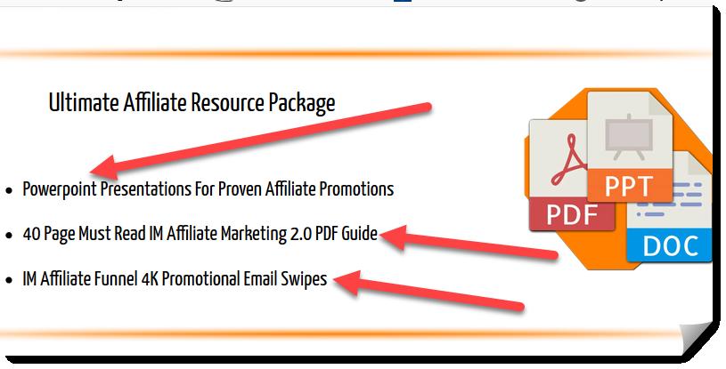 IM affiliate funnel 2.0 resources