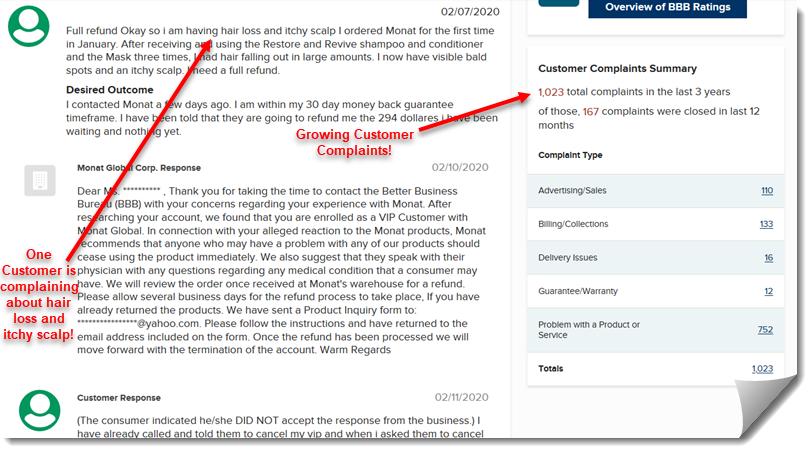 MONAT MLM Review - Better Business Bureau Complaints